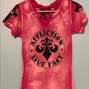 Affliction T-Shirt with wings on back
